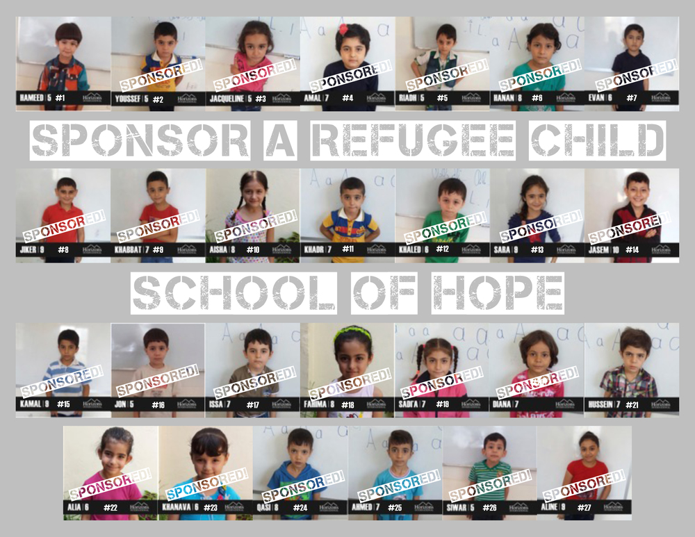 Bring hope to a refugee child    Sponsor A Child