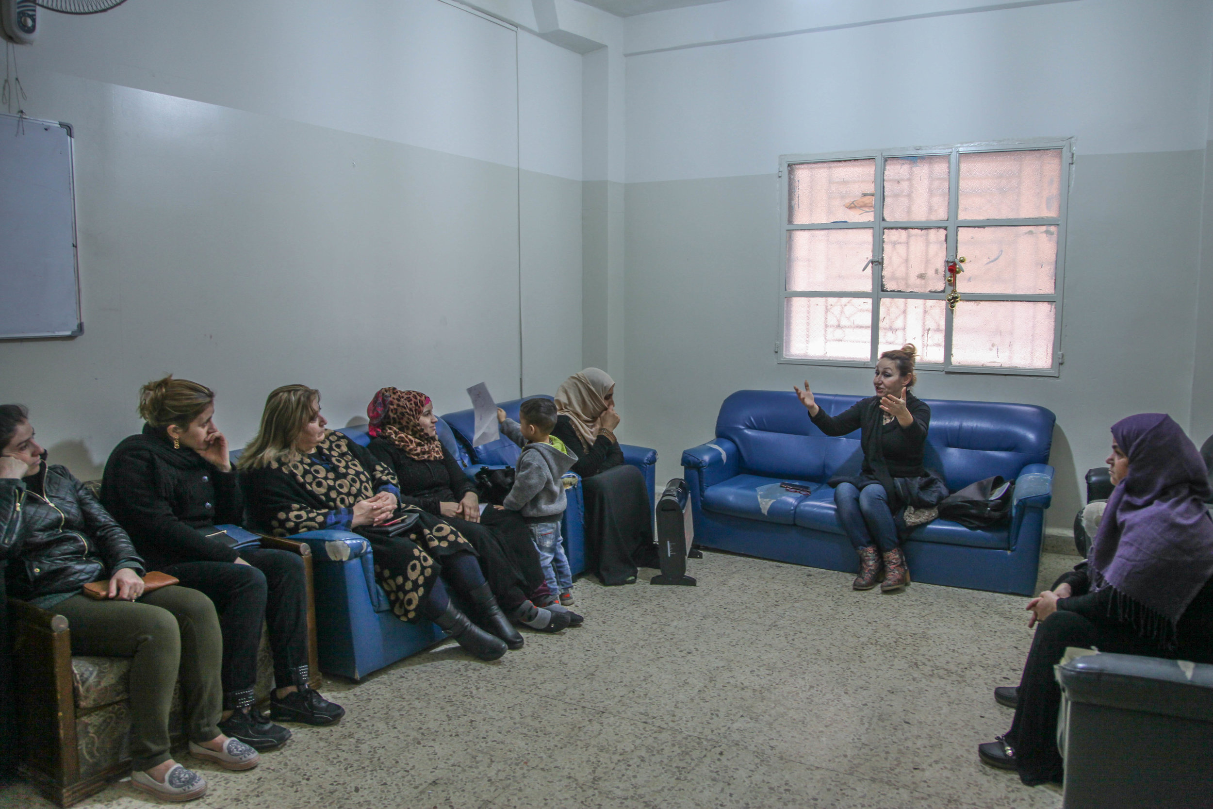 Sahar teaching discipleship Class at center in Feb.jpg