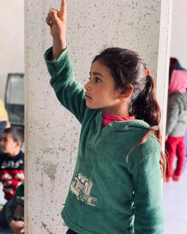 We love to see kids, like this girl here, excited to participate in our Bible lessons. Every week at our lighthouse in the Beqaa Valley we have a children's program including games and a Bible study for the many refugee kids in the area. The kids that come not only enjoy the games but also look forward to hearing new Bible stories!  #Kidsministry #HorizonsKids #refugeechildren #1000Lighthouses