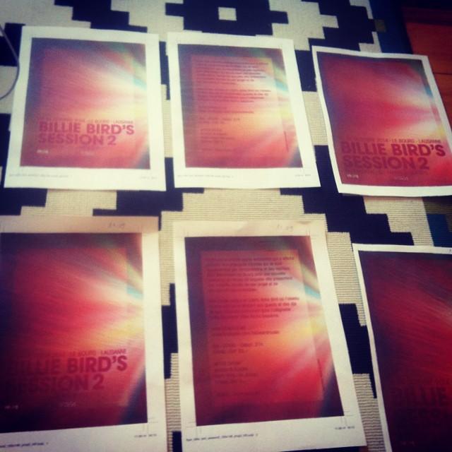 En train de finaliser le graphisme de la prochaine Billie Bird's session au bourg le 24 octobre prochain 🌴
