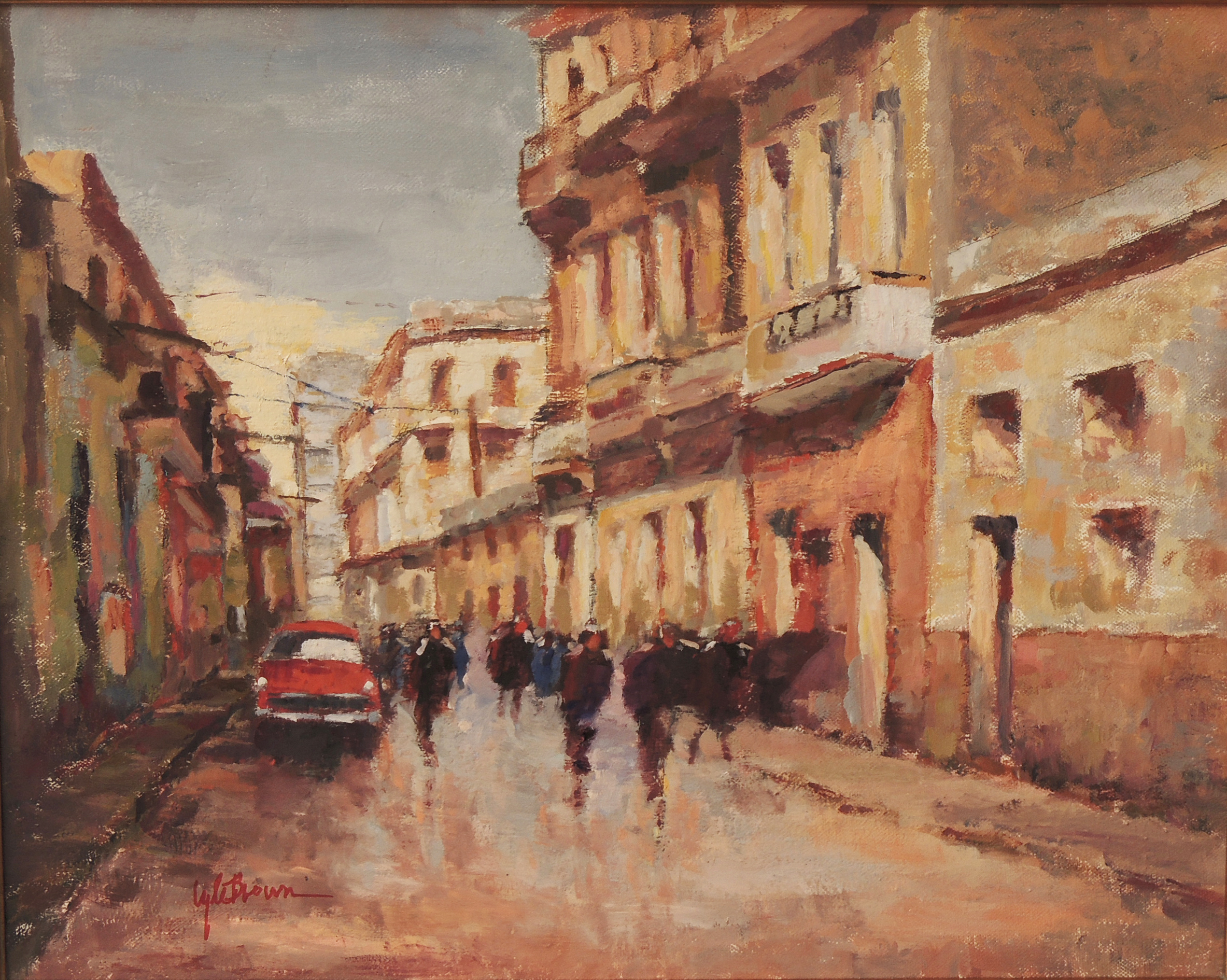 A Street in Havana 16 x 20 Oil