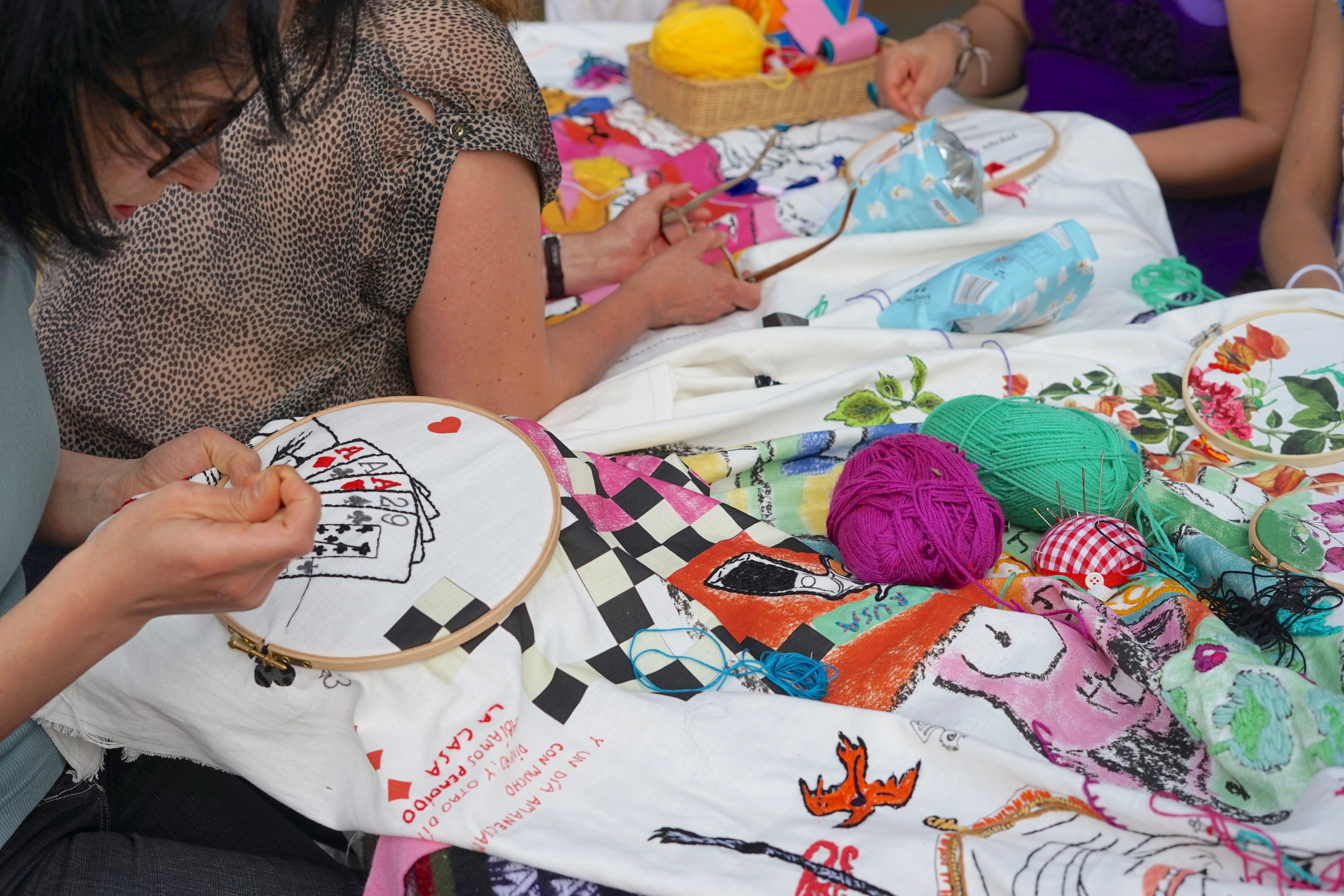 EMBROIDERING STORIES FROM YOUR COMMUNITY