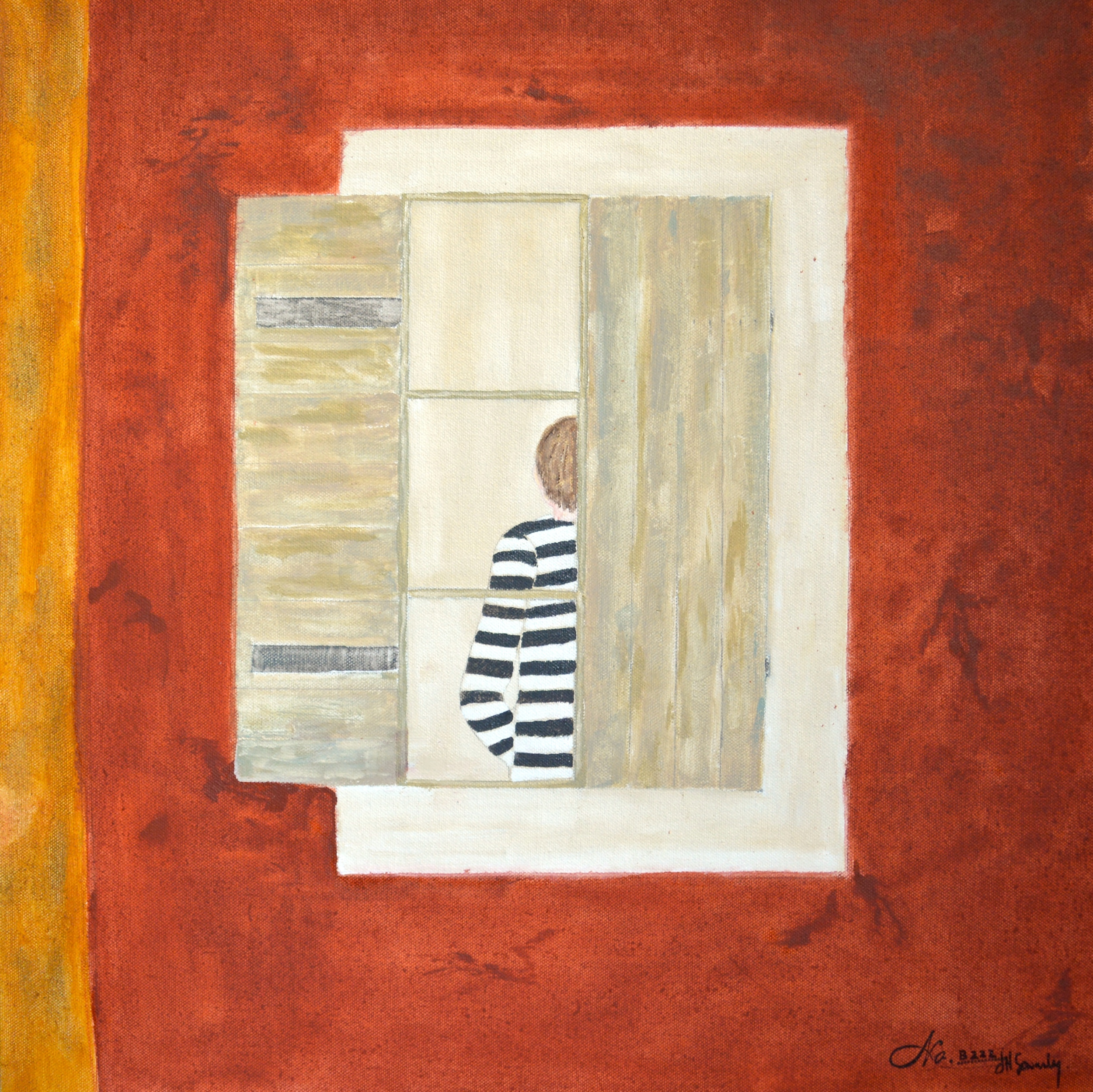 No.B222 Window Boy (20 x 20)