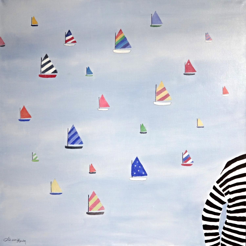 No.S124 Floating Rainbows (36 x 36)