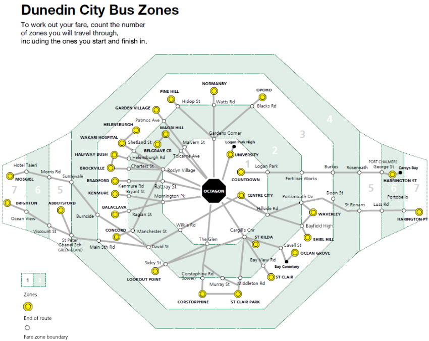 Dunedin City Bus Zones.png