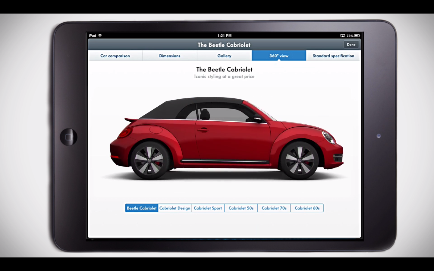 Volkswagen   car configurator - at Prime Focus   Creation of exterior and interior trims, standard and optional props, texturing, lighting and render.   [Softimage, After Effects]