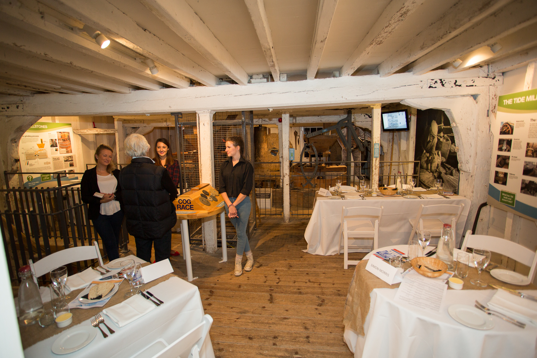 'Pop up' restaurant by Bespoke at the Tide Mill