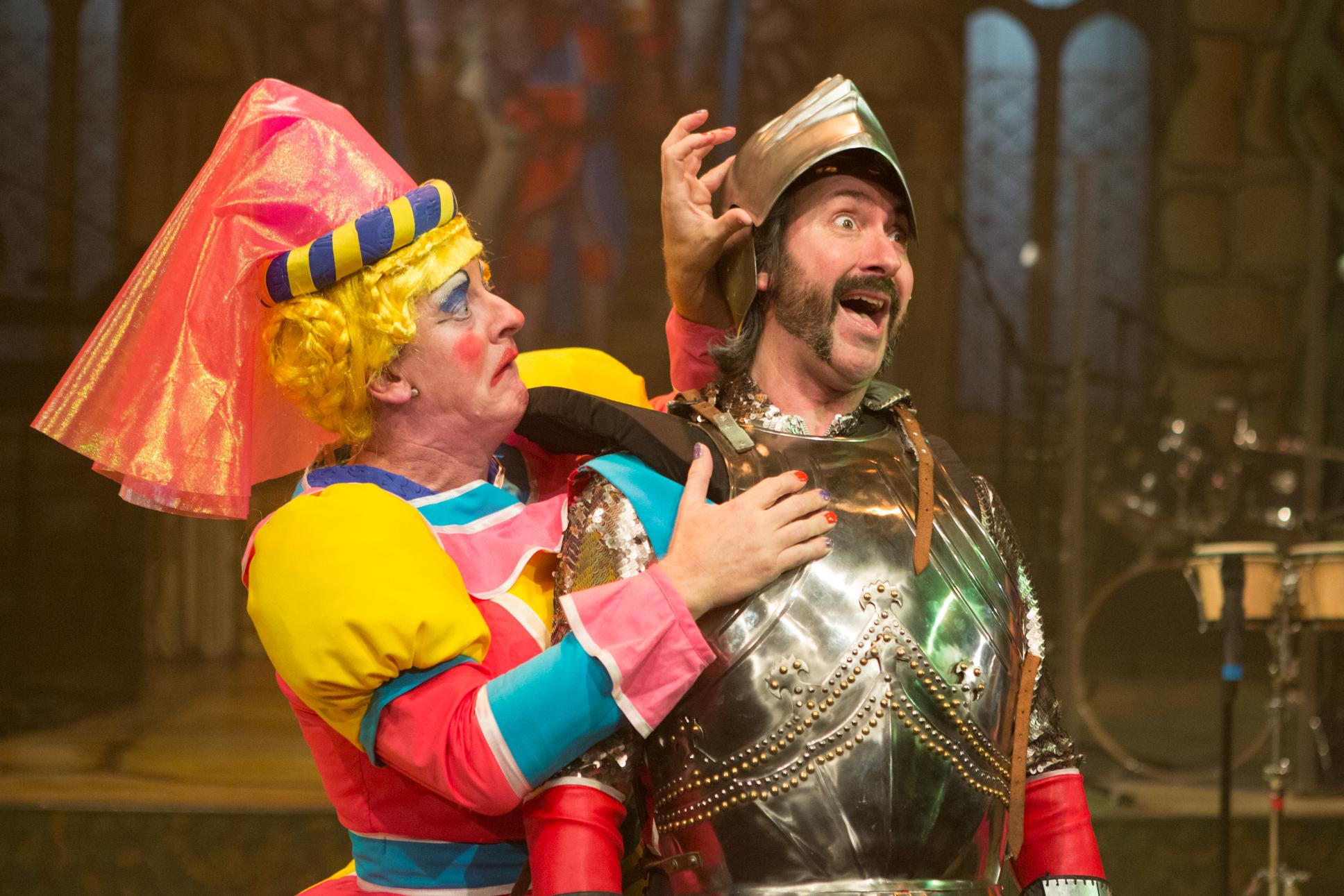 Graham Kent as Dame Bernadette Broadbottom and Daniel Carter Hope as Sir Cedric Scuttlebutt. Photo Mike Kwasniak.jpg