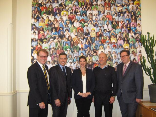 Left to Right: Stephen Singleton, Simon Bryan, Selina Tollemache Hopkins, James Hopkins, Tim Holder