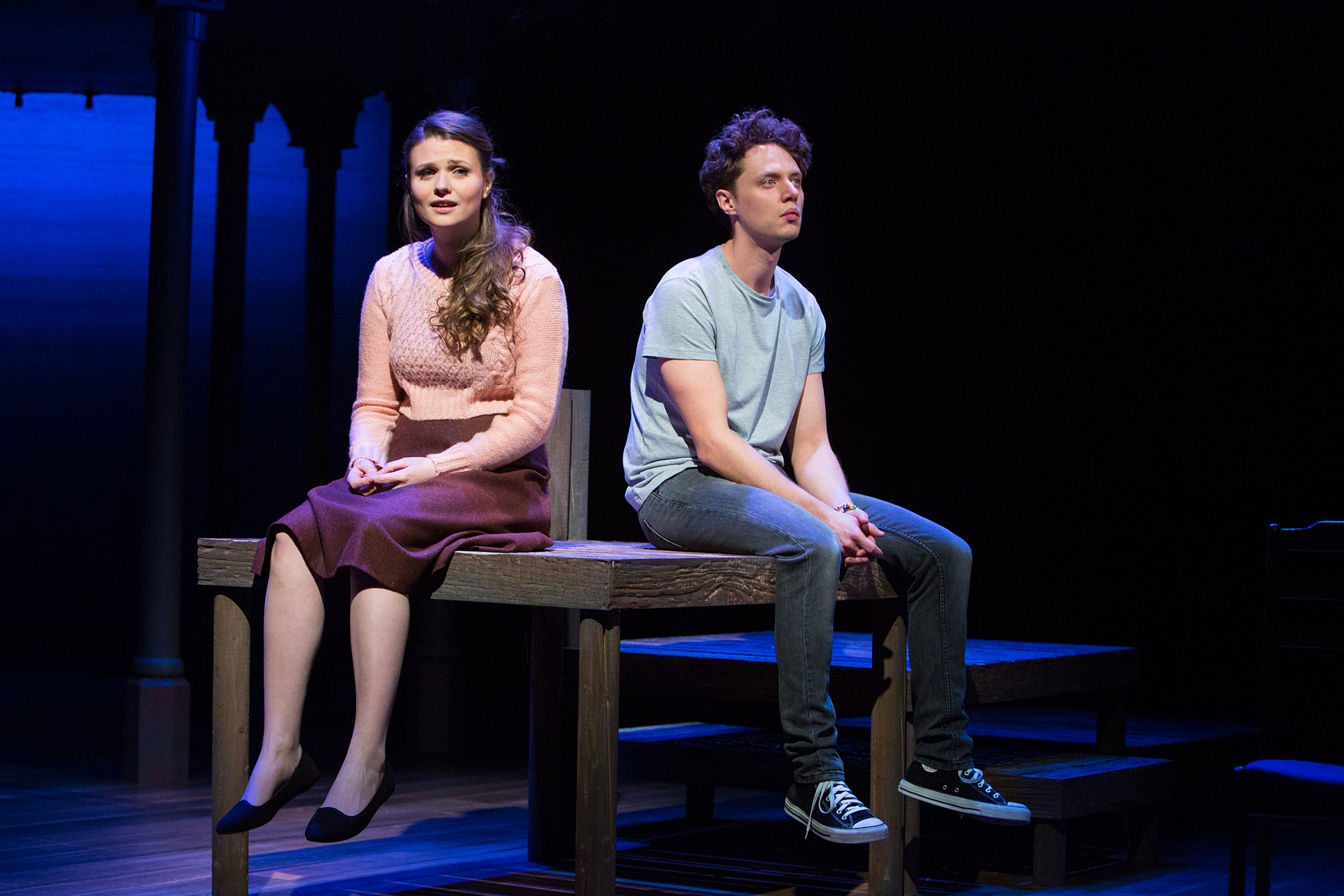 Katie Birtill as Cathy and Chris Cowley as Jamie. Photo Mike Kwasniak.jpg