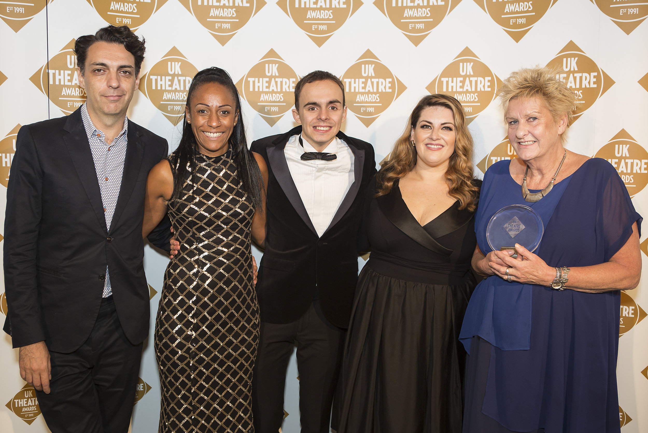 005_UKTA 2017_Best Touring Production_The Who's Tommy, New Wolsey Theatre and Ramps on the Moon_Kerry Michael, Donna Mullings, William Grint, Jodie Prenger, Sarah Holmes.jpg