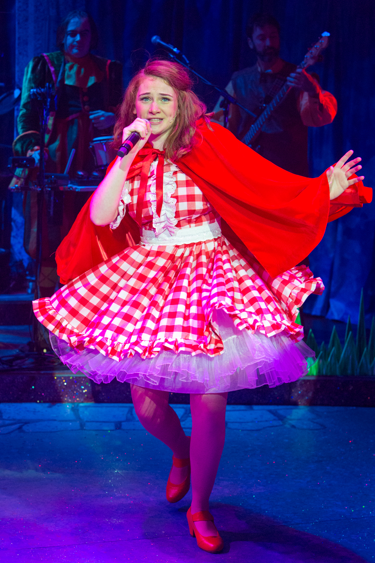 Lucy Wells as Red Riding Hood. Red Riding Hood at the New Wolsey Theatre. Photo Mike Kwasniak.jpg