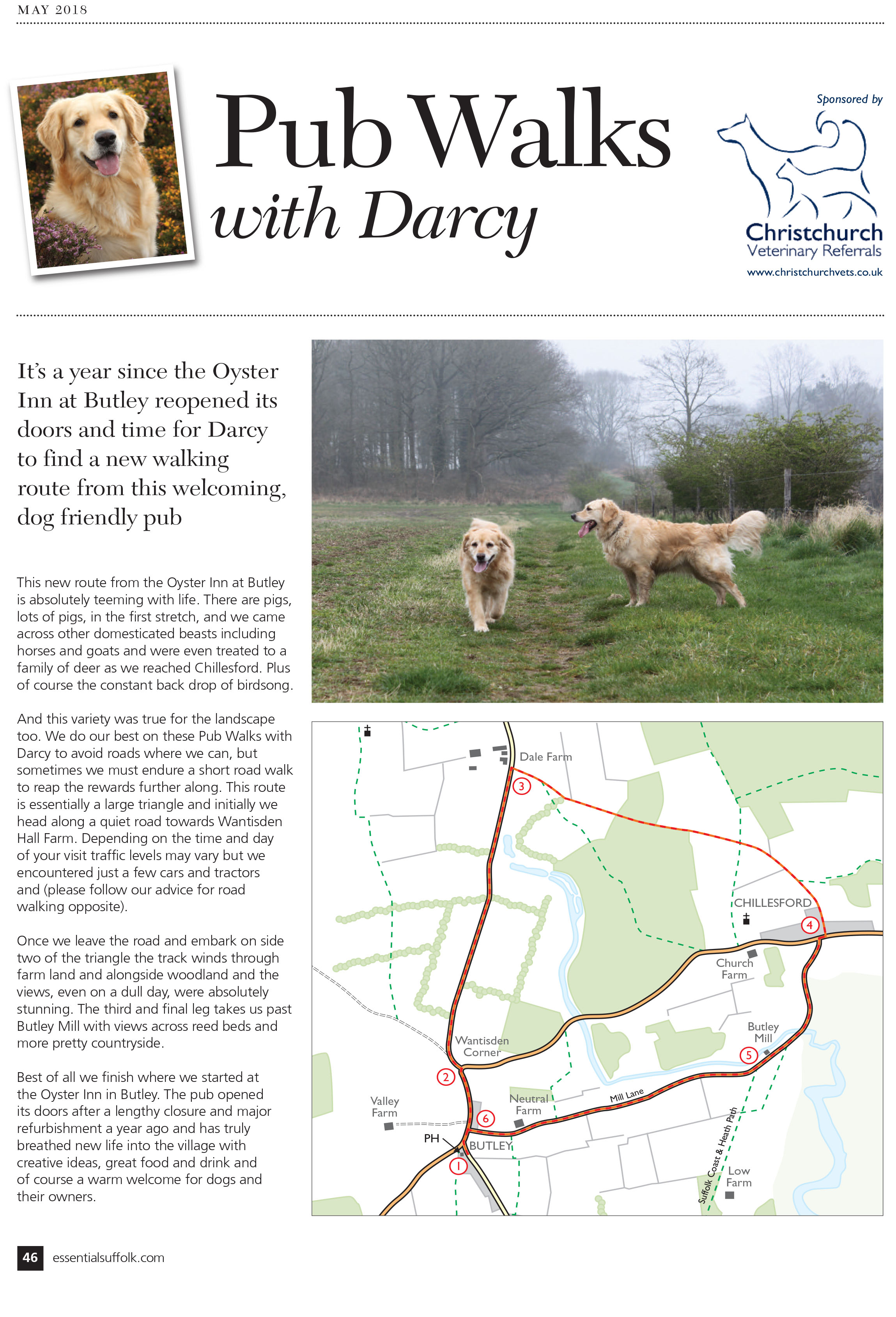 Essential Suffolk  Butley dog walk route 2 page 1