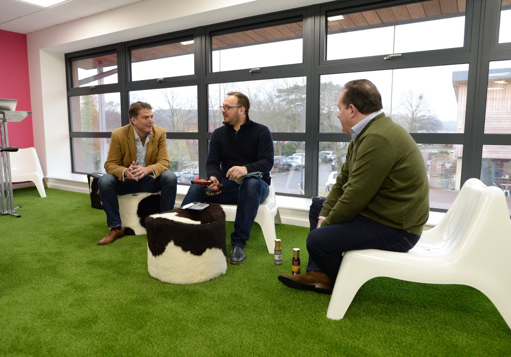Jim chatting to Paddy and Toby of SAS in the Start Up Lab.jpg
