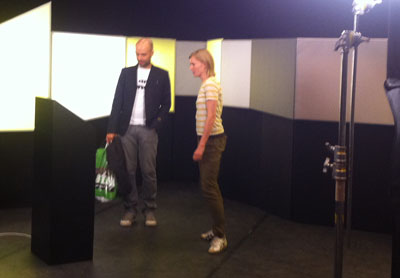 DADIU Talk Director Helle Pagter and Miguel Sicart at the recording.