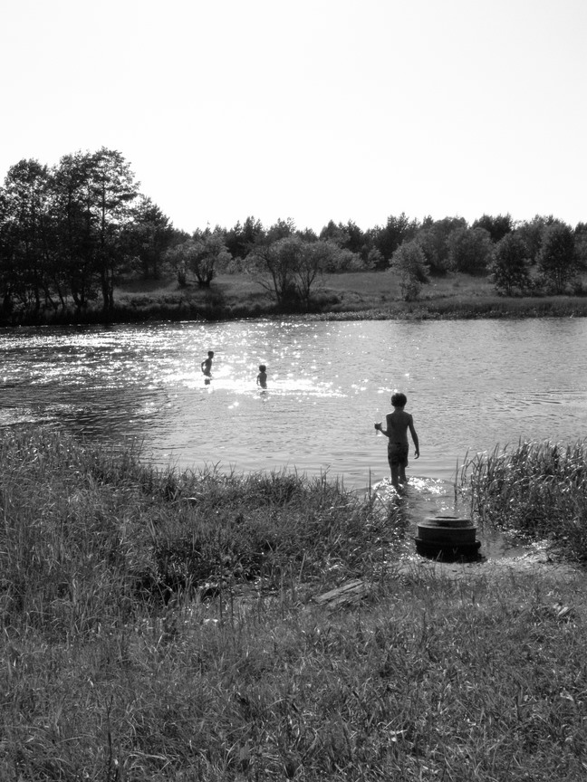 Summer in Russia at the river