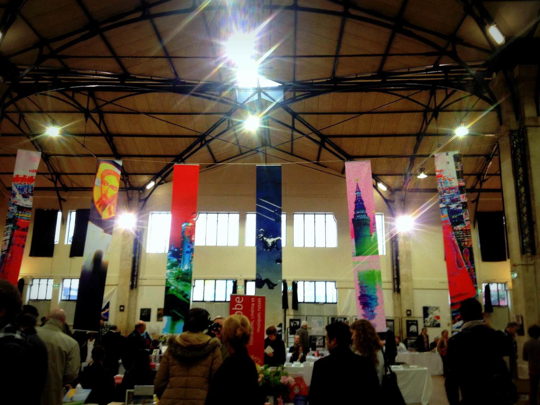 Blancs Manteaux salon de la litterature russe Paris Marie de La Ville bauge installation (2).jpg