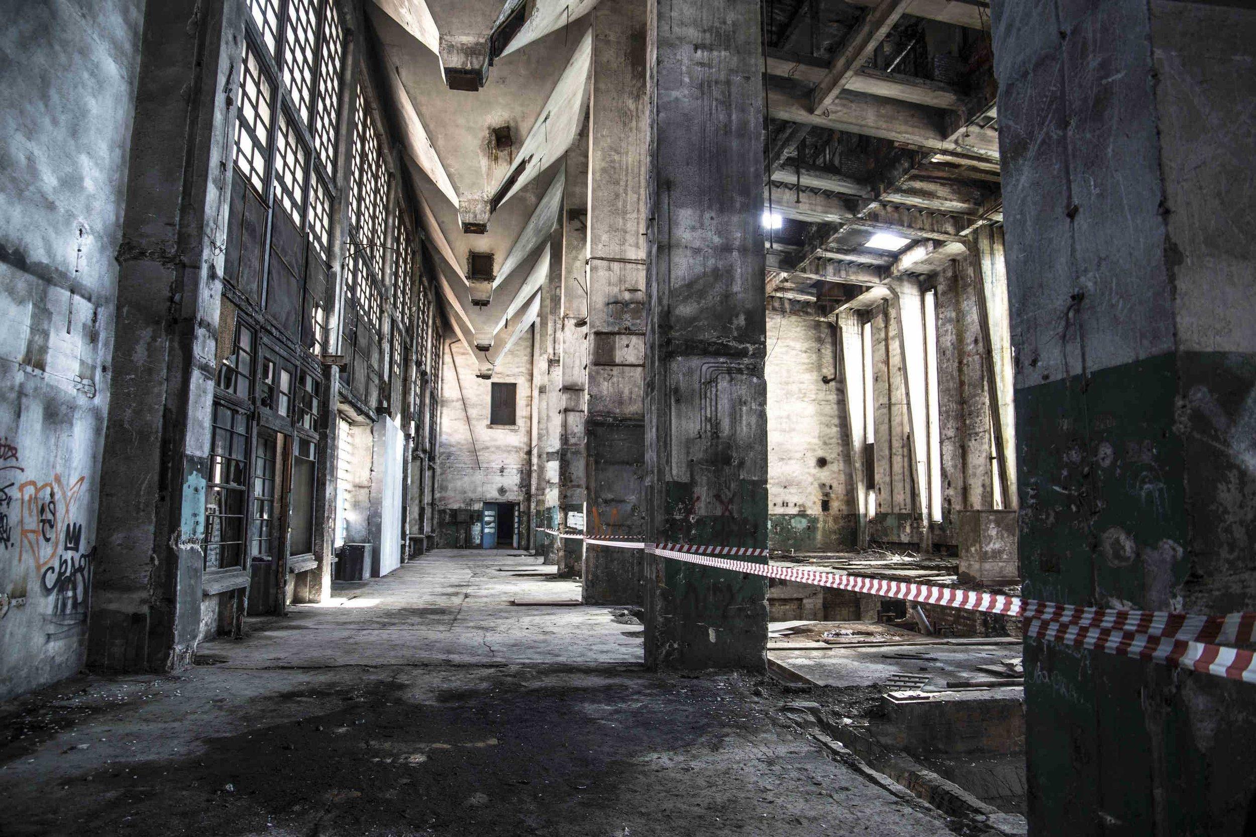 Inside Red Banner textile factory,Красное Знамя