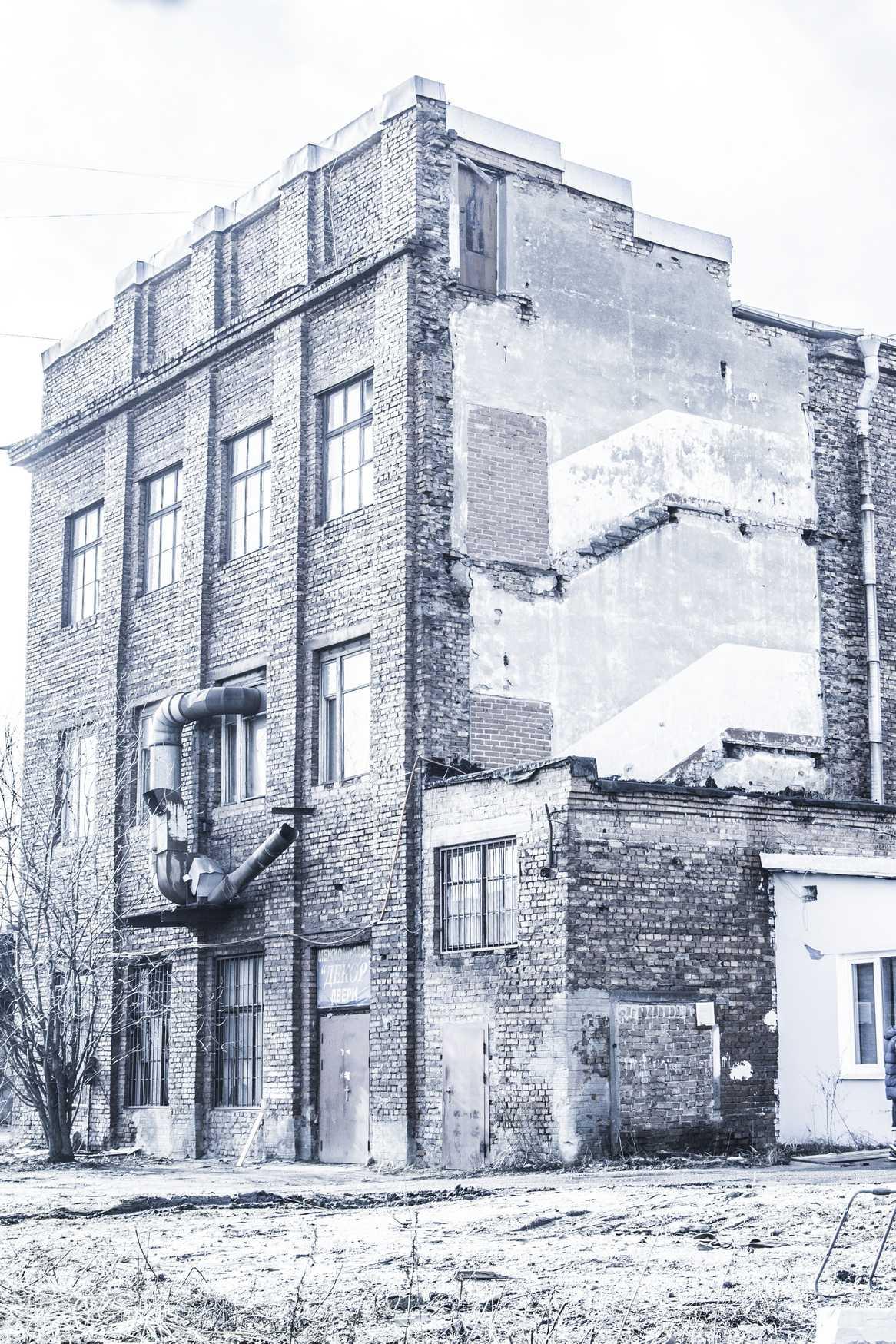 Factory along the railway, Saint Peterbourg, Baltisky zavod