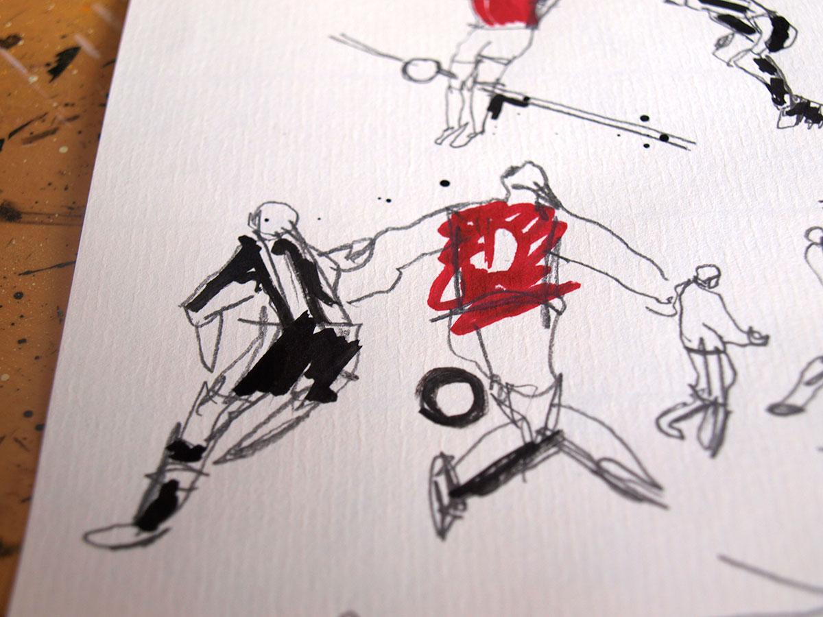 The wonder goal as seen by  illustrator Ben Tallon