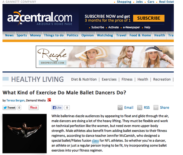 CABARRET Barre and Dance Fitness Creatrix Nicole LaBonde talks about men using ballet for exercise.  #barre #dance #fitness #exercise
