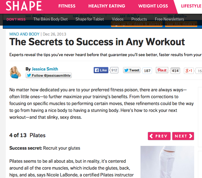 Shape Magazine, pilates, fitness, workout
