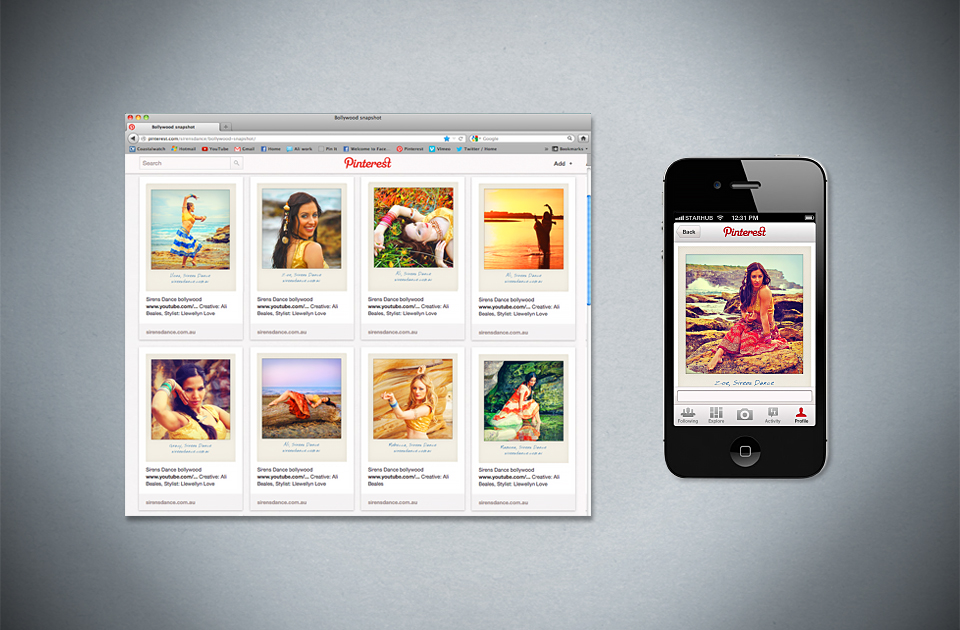 Sirens Dance ,  'Bollywood at its best'  – Pinterest content