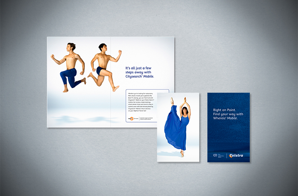 Telstra ,  'Stay on your toes'  – The Australian Ballet sponsorship booklet and card