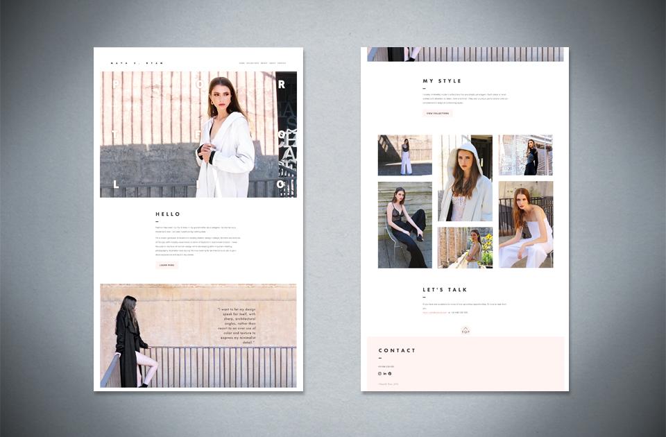 Maya E. Ryan ,  Fashion portfolio  – website