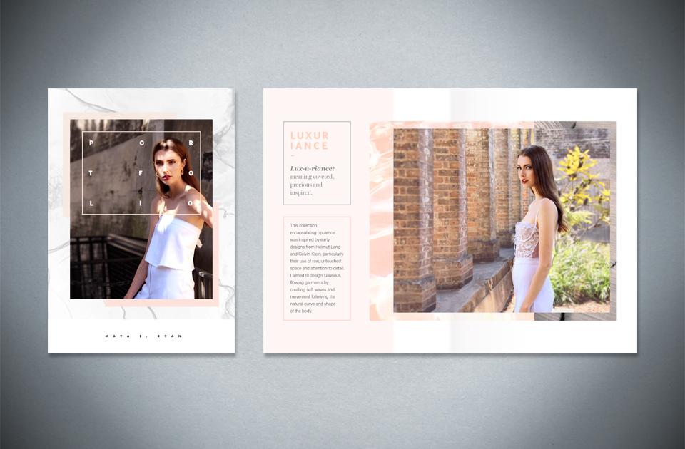 Maya E. Ryan ,  Fashion portfolio  – booklet