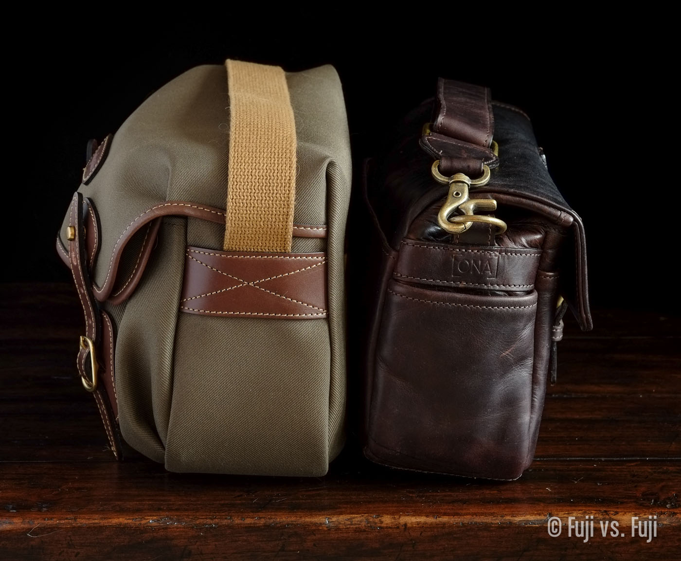 The Hadley small and the Bowery, back to back for scale
