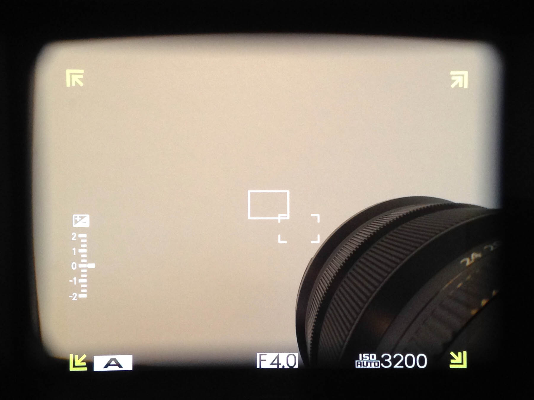 What you see at focal lengths wider than 18mm