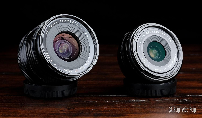 The  FUJINON XF 14mm f/2.8 vs. the FUJINON XF 18mm f/2 – Can you tell I need a soft box?