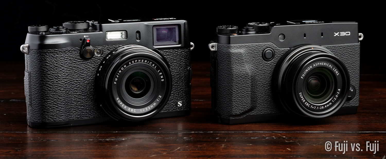 The X100S next to the X30