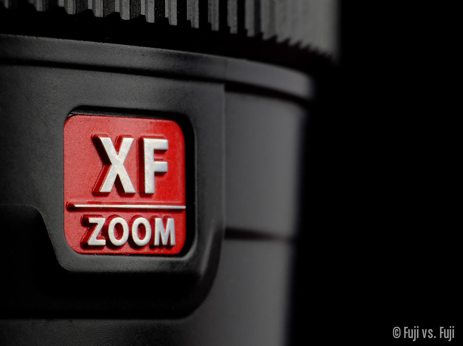 Fuji's red XF Zoom badge