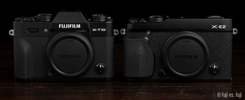 Fuji's X-T10 and X-E2