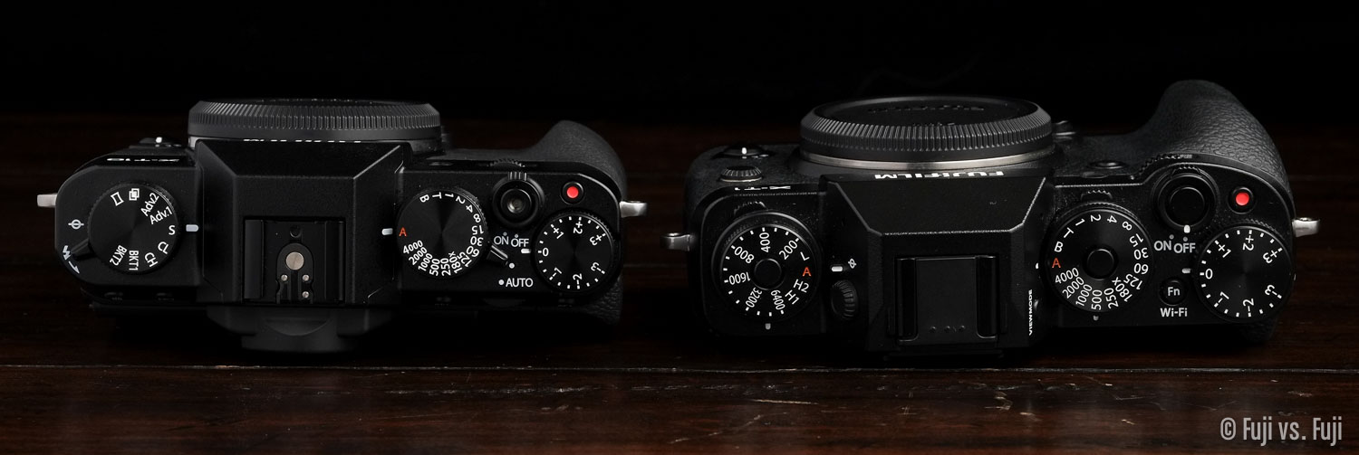Fuji X-T10 and X-T1 Top view