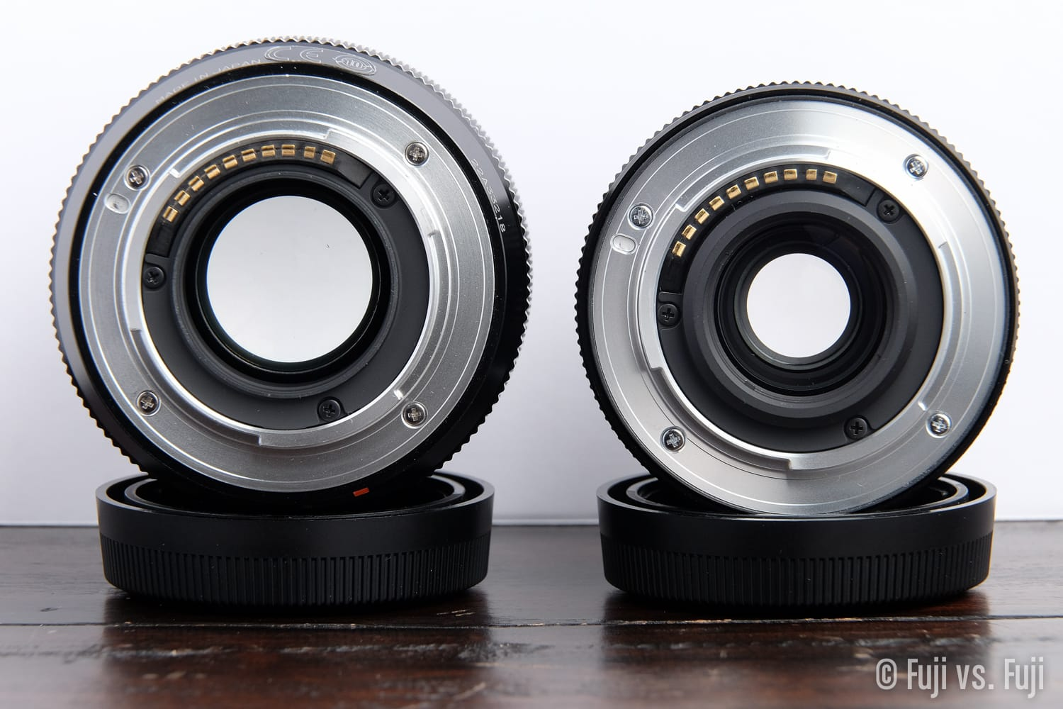 Standard non-weather-sealed mount left, weather sealed mount right