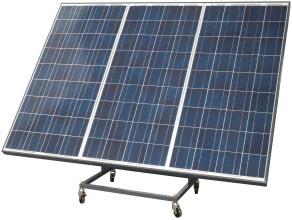 Opcional:Gerador fotovoltaico dimensionado para manter a temperatura no valor alcançado.Montado sobre estrutura com rodízios, com inclinação variável.