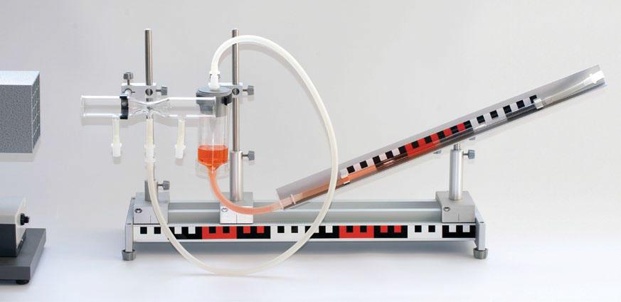Princípio do manômetro de tubo inclinado