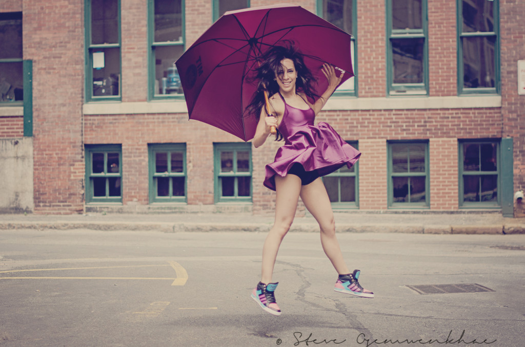 Liliana J Modeling with her umbrella