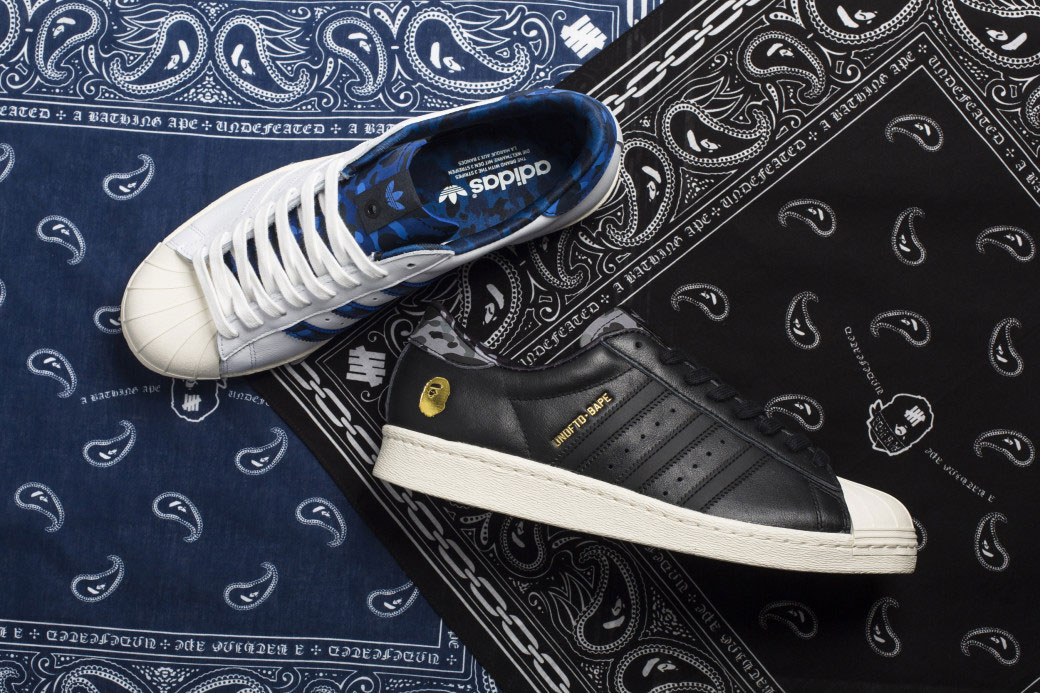 Bape x Undefeated x Adidas Superstar