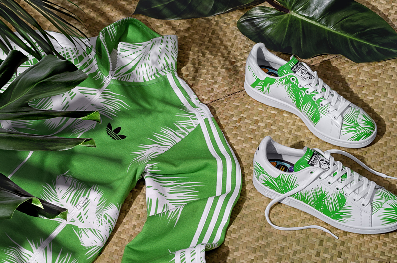 "new product fb28b 53b62 Pharrell Williams x BBC x Adidas Stan Smith ""Palm Tree""pack ..."
