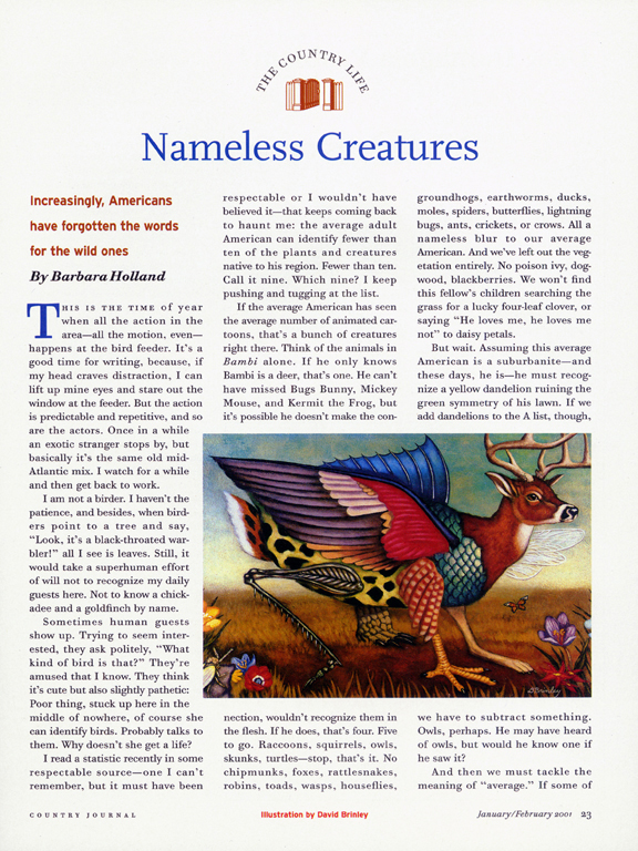 Nameless Creatures   | Country Journal