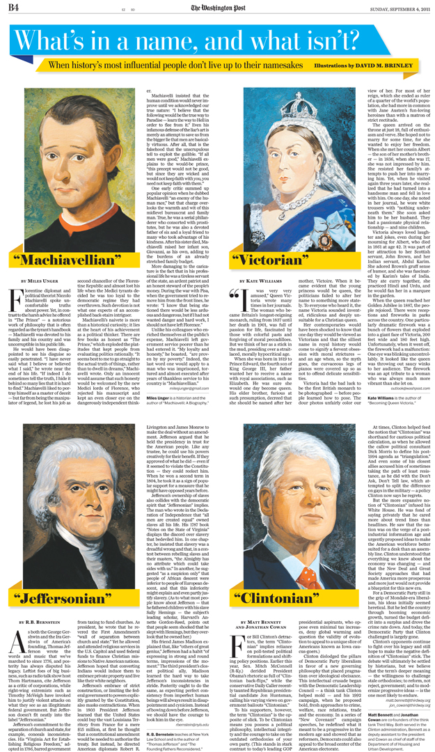 'What's In A Name…'   | The Washingtonian Post editorial portraits