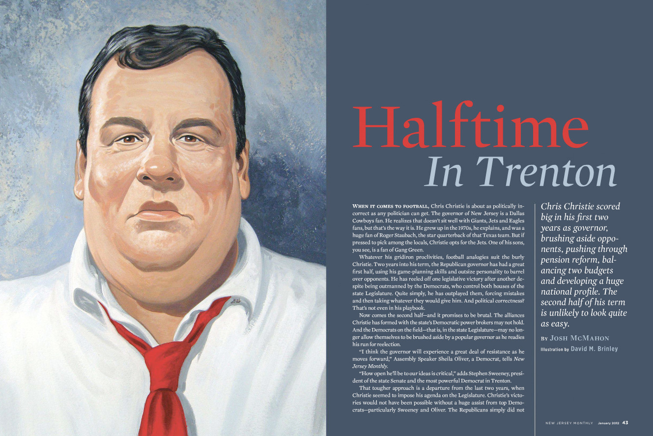New Jersey Governor Chris Christie  | New Jersey Monthly