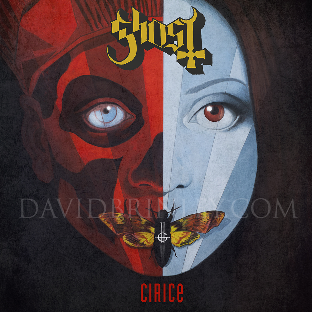 GHOST | Cirice    Acrylic on paper and digital  Official CD single cover  Loma Vista Recordings  2016 58th Annual GRAMMYs award winner: 'Best Metal Performance'