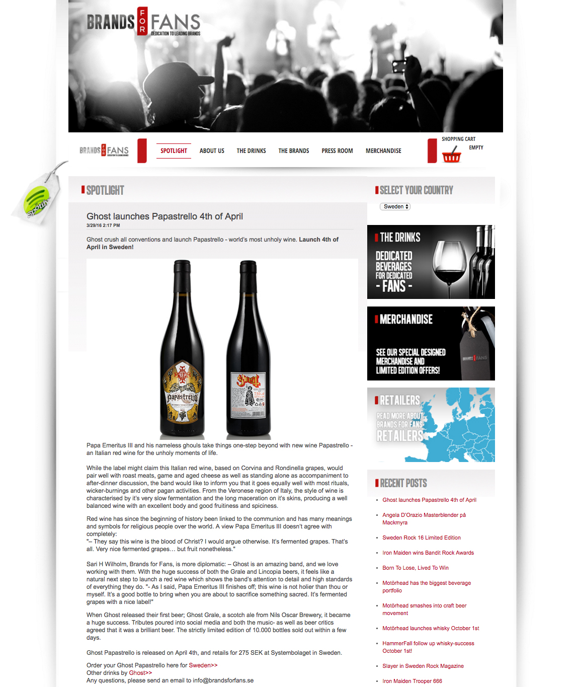 GHOST | Papastrello wine labels    Ink on paper and digital  Official Brands For Fans (Sweden) launch page 4/4/2016