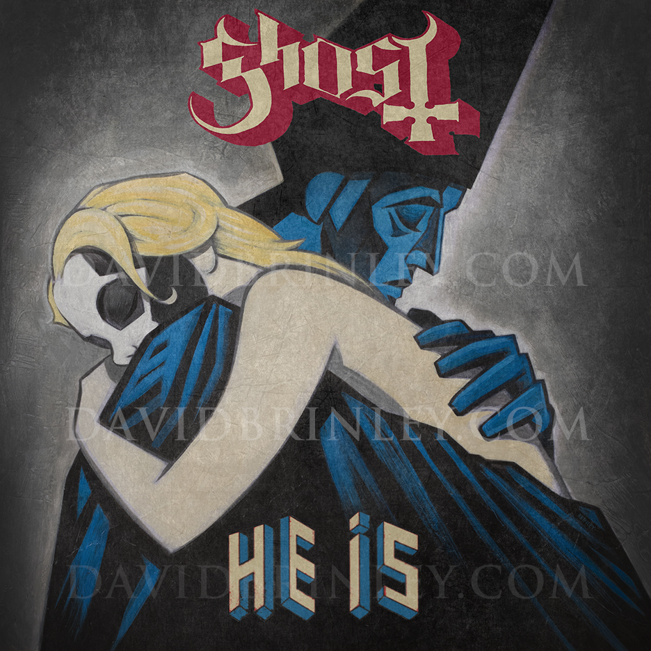 GHOST | He Is   Acrylic on paper and digital  Official single cover   Universal Music AB (Sweden)   G  HOST live Grammis 2016 VIDEO LINK