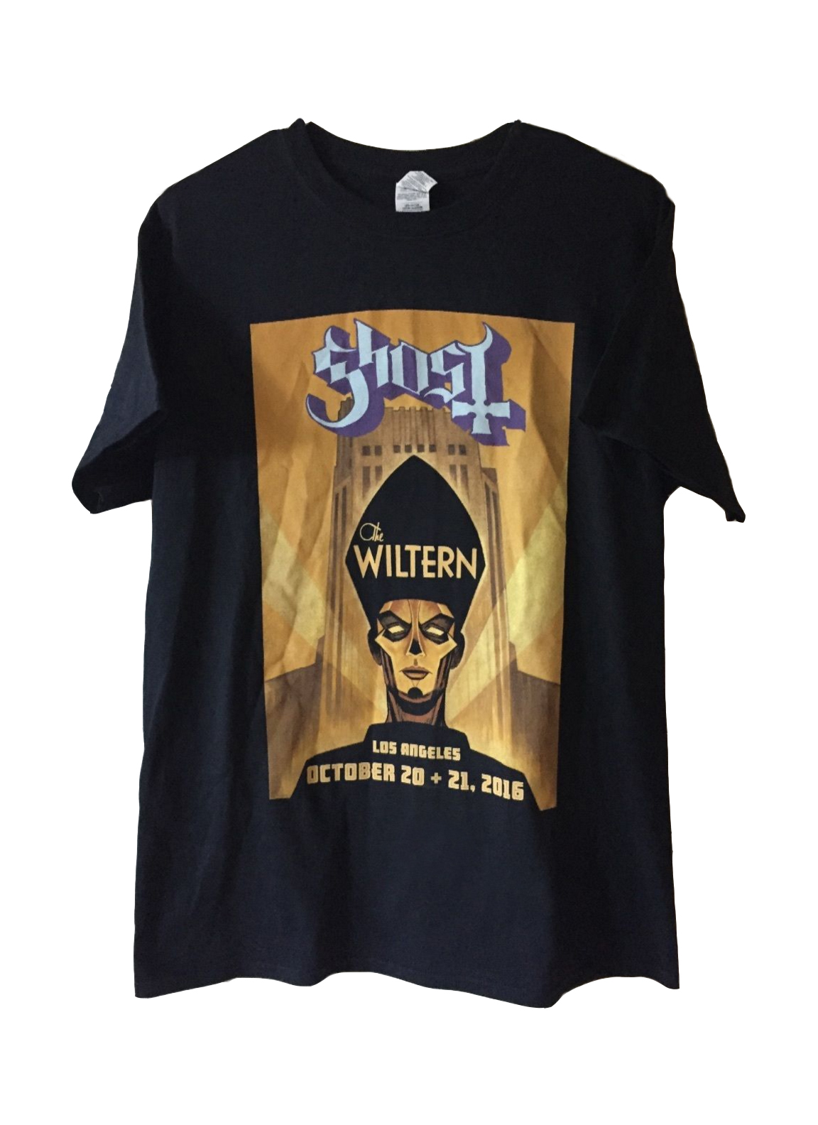 GHOST | The Popestar Tour 2016    Official limited edition 'The Wiltern' t-shirt    Acrylic on paper and digital